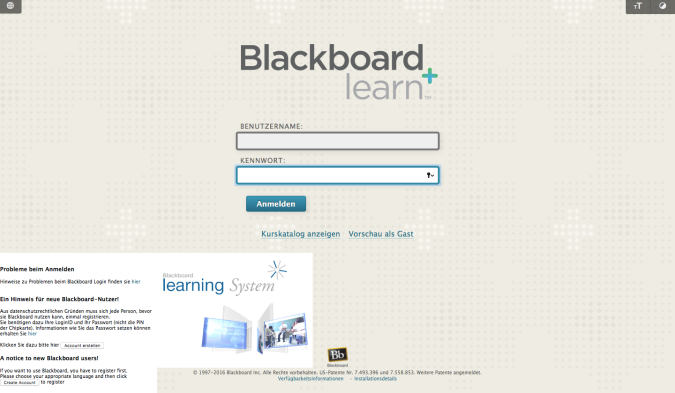 E-learning BlackBoard